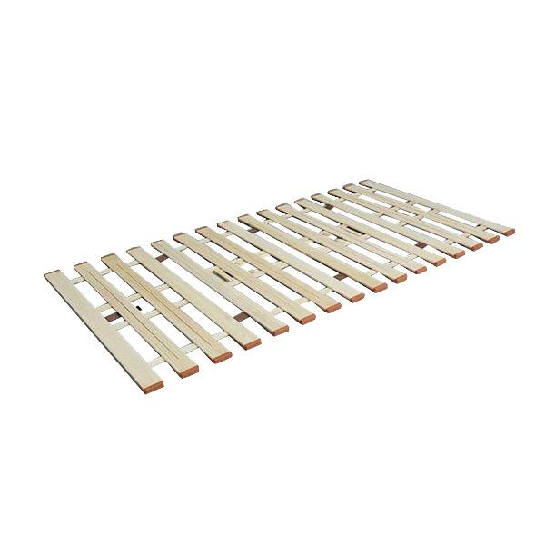 座ったままでお布団干しに早変わり! 薄型軽量桐すのこベッド4つ折れ式 シングル LYF-210 代引き不可/同梱不可