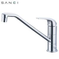 三栄水栓 SANEI シングルワンホール分岐混合栓 K87010BJV-13C メーカ直送品  代引き不可/同梱不可