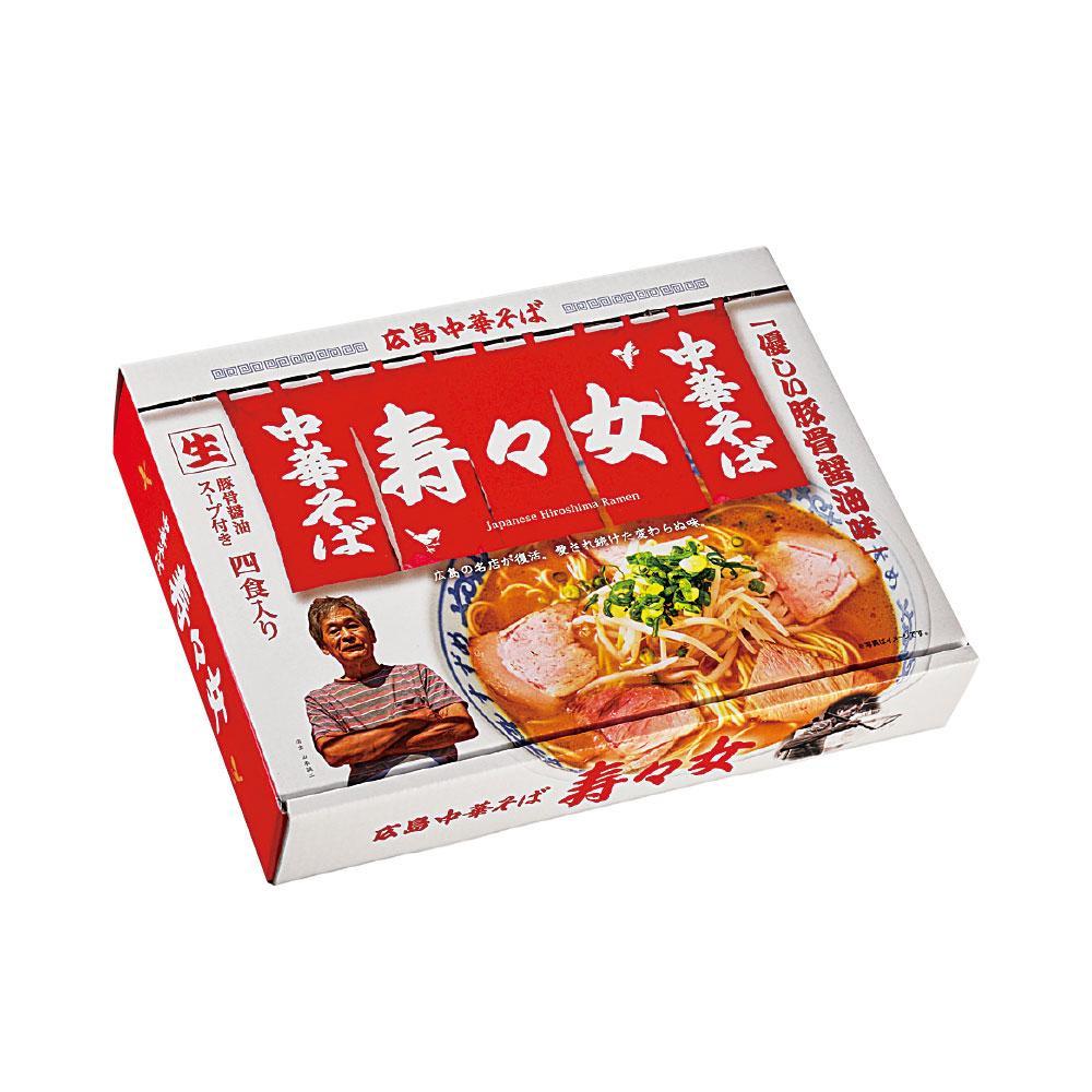 優しい豚骨醤油味。 銘店ラーメンシリーズ 広島中華そば 寿々女 4人前 18セット PB-127 メーカ直送品  代引き不可/同梱不可