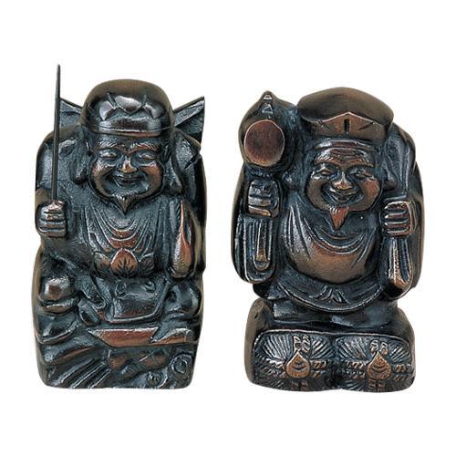 高岡銅器 銅製置物 福の神 大黒・恵比寿 40-03 メーカ直送品  代引き不可/同梱不可