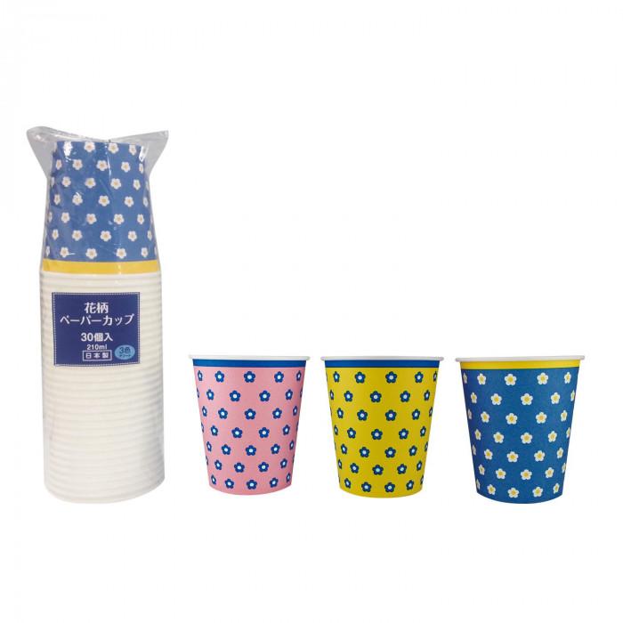 アートナップ 花柄ペーパーカップ 30個×60 HG-341 メーカ直送品  代引き不可/同梱不可