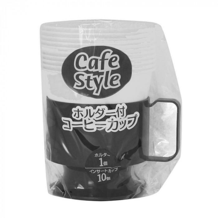 アートナップ ホルダー付コーヒーカップ (ホルダー1個・カップ10個)×120 DC-17N メーカ直送品  代引き不可/同梱不可