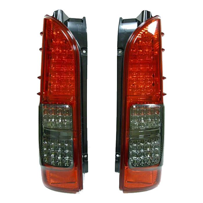 SoulMates 200系ハイエース カスタム用フルLEDテールランプ 4型風 赤/スモーク GTT-003 メーカ直送品  代引き不可/同梱不可