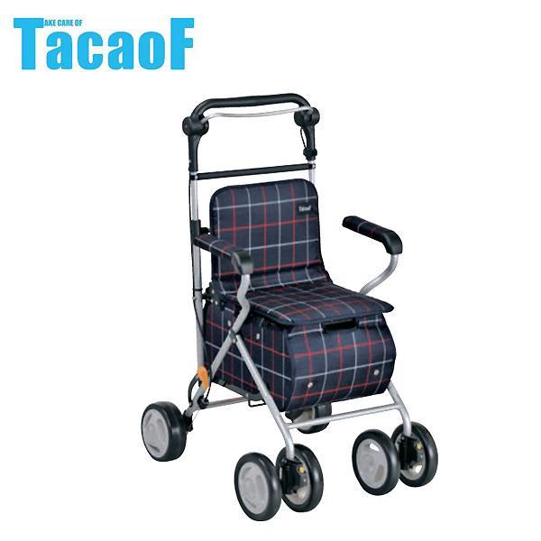 幸和製作所 テイコブ(TacaoF) シルバーカー テイコブ ST07 格子紺 代引き不可/同梱不可