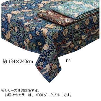 川島織物セルコン Morris Design Studio いちご泥棒 テーブルクロス 134×240cm HM1730S DB ダークブルー メーカ直送品  代引き不可/同梱不可
