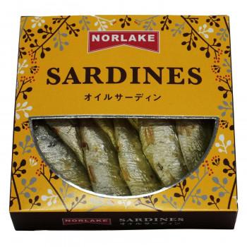 サラダやパスタ等、お料理の素材にも最適! Norlake(ノルレェイク) オイルサーディン プレーン 120g×48個 メーカ直送品  代引き不可/同梱不可