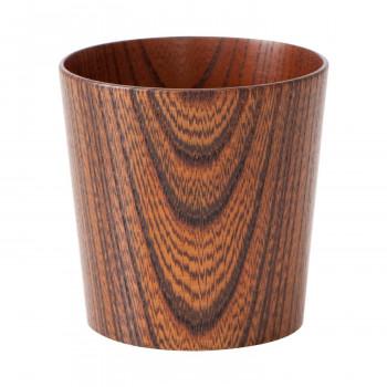 木のコップ 欅 漆茶 5個セット メーカ直送品  代引き不可/同梱不可