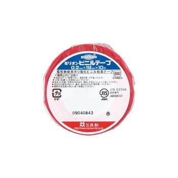 共和 ミリオン(R) 電気絶縁用ビニルテープ 赤 1巻シュリンク包装 HF-114-A 20パック メーカ直送品  代引き不可/同梱不可