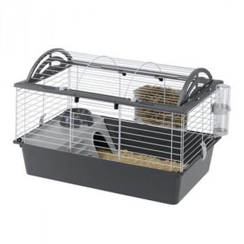 ferplast(ファープラスト) ウサギ用ケージセット キャシタ 80 57065070 グレー メーカ直送品  代引き不可/同梱不可