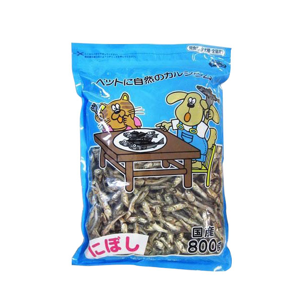 フジサワ 国産 犬猫用 ペットにぼし 800g×12袋セット 代引き不可/同梱不可