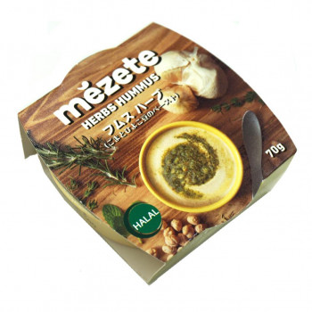 グリーンチリ タイムなどの香辛料を加えたピリ辛のフムス meze メゼ フムス メーカー公式 代引き不可 70g×12セット ハーブ 出色 同梱不可 メーカ直送品