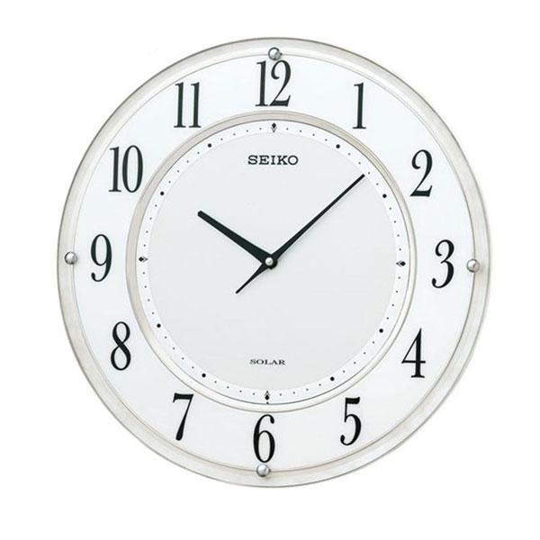 SEIKO セイコークロック 電波クロック 掛時計 ソーラープラス 薄型タイプ SF506W 代引き不可/同梱不可