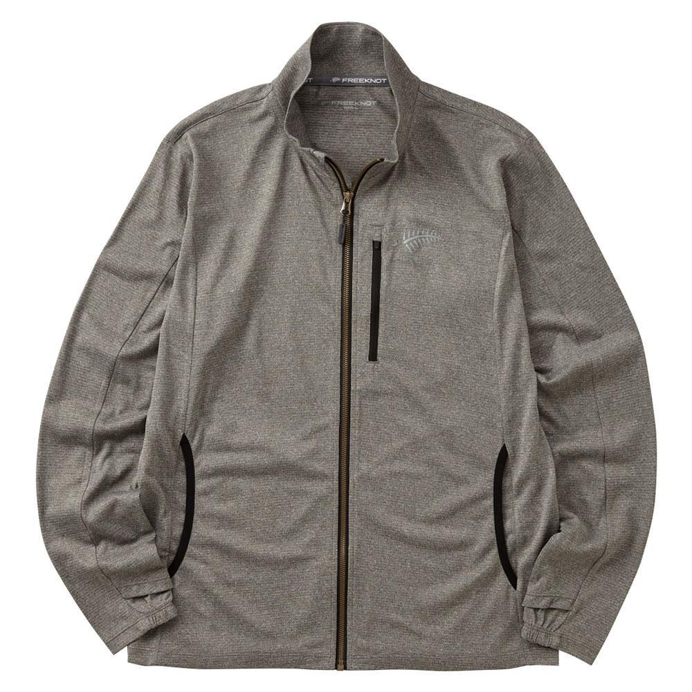 BOWBUWN ジップアップジャケット 杢グレー Y1440-L-94 メーカ直送品  代引き不可/同梱不可