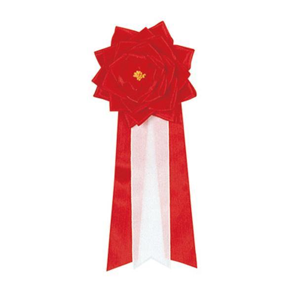 ササガワ タカ印 38-220 記章 リボンバラ 大赤 6個 メーカ直送品  代引き不可/同梱不可
