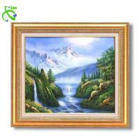 グリーン油絵額F10 「大自然の恵」 1118940 代引き不可/同梱不可