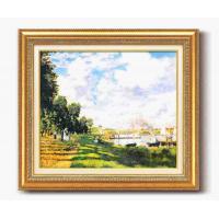 モネ名画額F10号 「アルジャントーユの停泊所」 1757040 代引き不可/同梱不可