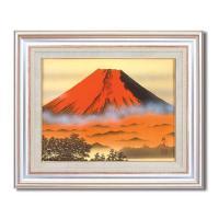 葛谷聖山(梅月)日本画額F6AS 代引き不可/同梱不可
