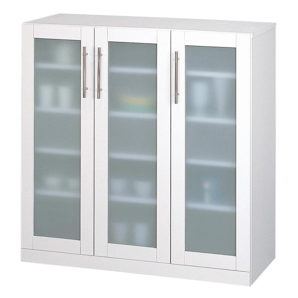 カトレア食器棚90-90 23464 メーカ直送品  代引き不可/同梱不可
