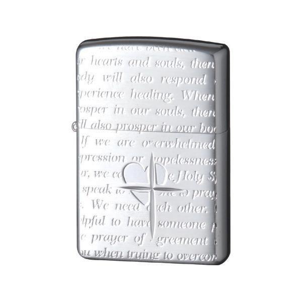 ZIPPO(ジッポー) オイルライター ラバーズ・クロス メッセージALL 銀サテーナ 63060198 メーカ直送品  代引き不可/同梱不可