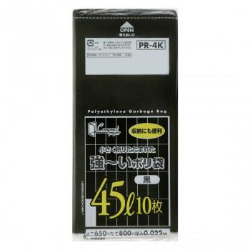 ジャパックス コンパクト強~いポリ袋45L 黒 10枚×60冊 PR4K メーカ直送品  代引き不可/同梱不可