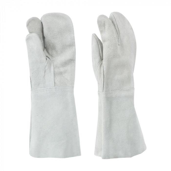 東和コーポレーション(TOWA) 溶接用手袋 床革3本指 W-333 12双 460 フリーサイズ メーカ直送品  代引き不可/同梱不可