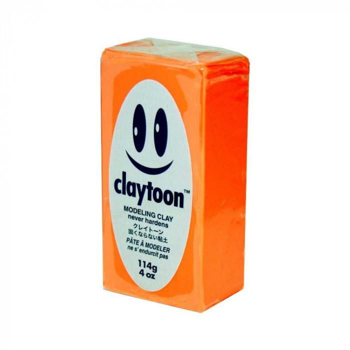 クレイアニメでは定番のねんど MODELING CLAY モデリングクレイ claytoon クレイトーン カラー油粘土 ネオンオレンジ 4Pound 4bar 同梱不可 セットアップ 代引き不可 6個セット メーカ直送品 超人気 1