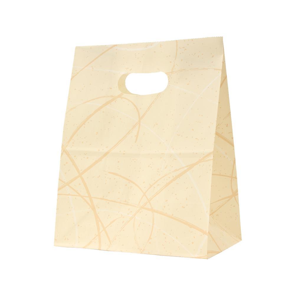 パックタケヤマ 紙袋 イーグリップ M ゆうびベージュ 50枚×10包 XZT52003 メーカ直送品  代引き不可/同梱不可