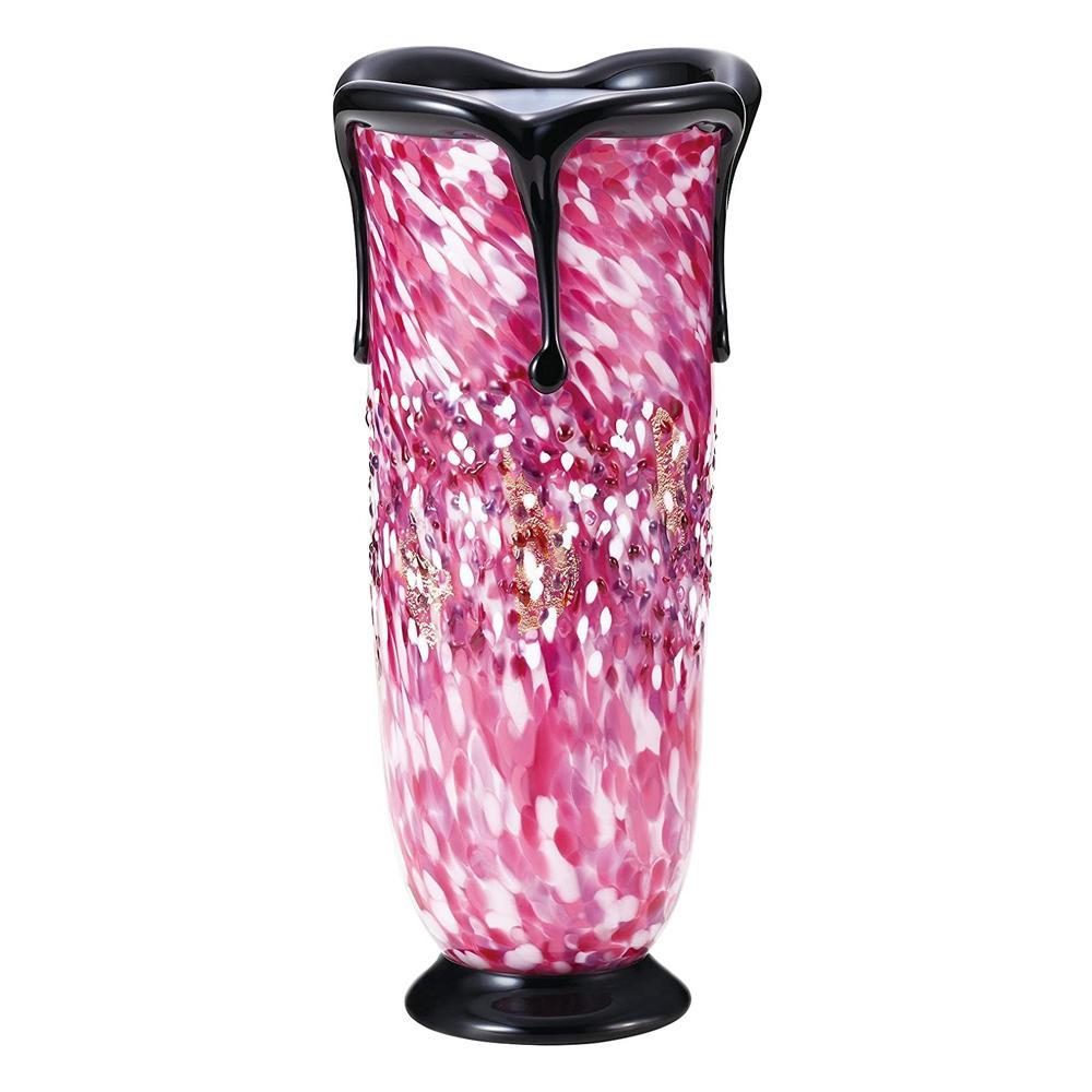 黒重ね花器(花あかり) F71436 代引き不可/同梱不可