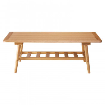 HOMEDAY リビングテーブル OAK(ホワイトオーク) LT-60-N110 メーカ直送品  代引き不可/同梱不可