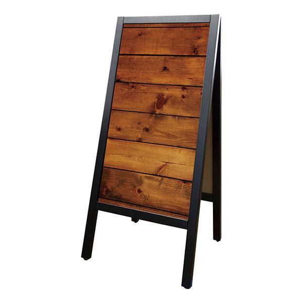 Pボード リムーバブルA型マジカルボード 24460 木目柄茶/黒無地 メーカ直送品  代引き不可/同梱不可