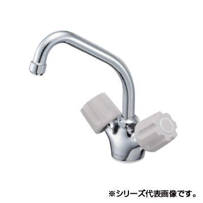 三栄 SANEI U-MIX ツーバルブワンホール混合栓 K811V-LH-13-23 メーカ直送品  代引き不可/同梱不可