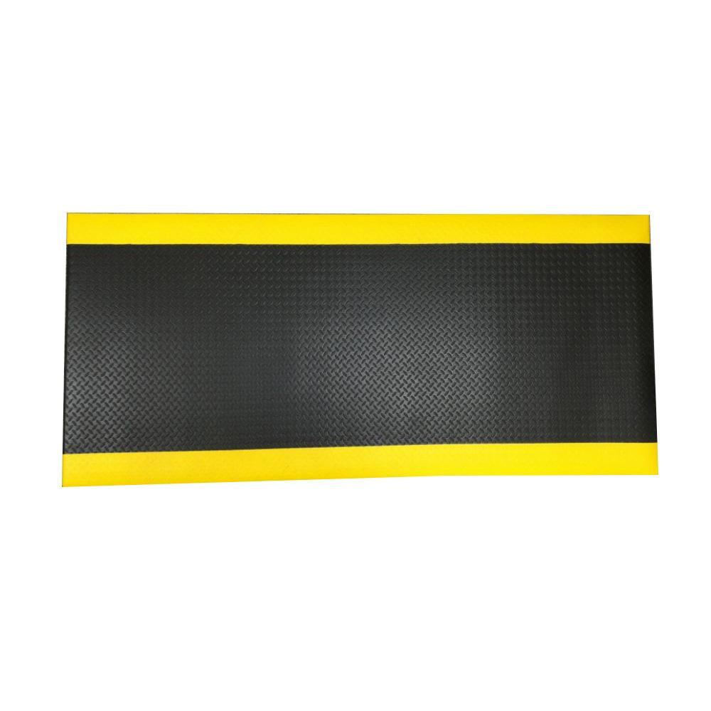 疲労軽減マット 60x150cm 厚さ9mm 黒/黄色 J2289 メーカ直送品  代引き不可/同梱不可※2020年4月下旬入荷分予約受付中