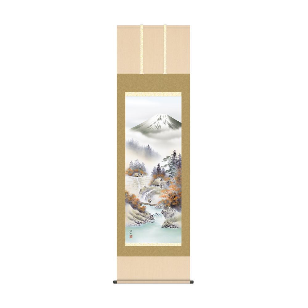 掛軸 伊藤渓山「富士紅染」 KZ2B4-25C 54.5×190cm メーカ直送品  代引き不可/同梱不可