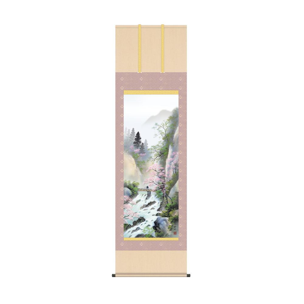 掛軸 小林秀峰「春招情景」 KZ2B4-26A 54.5×190cm メーカ直送品  代引き不可/同梱不可
