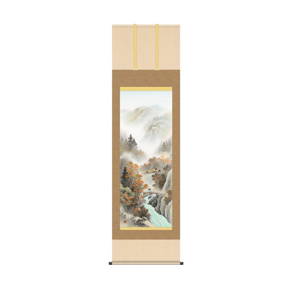 掛軸 小林秀峰「秋紅情景」 KZ2B4-26C 54.5×190cm メーカ直送品  代引き不可/同梱不可