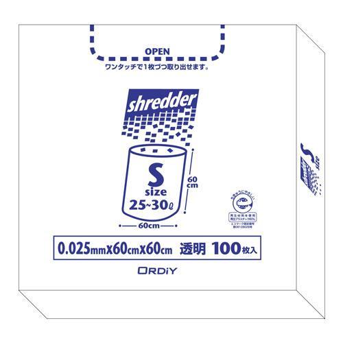 オルディ ポリバックシュレッダー用ボックスS 透明100P×5箱 511201 メーカ直送品  代引き不可/同梱不可