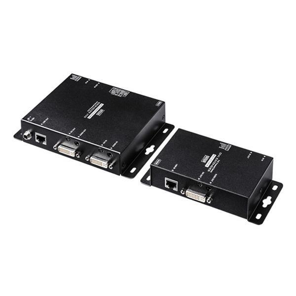 サンワサプライ PoE対応DVIエクステンダー(セットモデル) VGA-EXDVPOE メーカ直送品  代引き不可/同梱不可