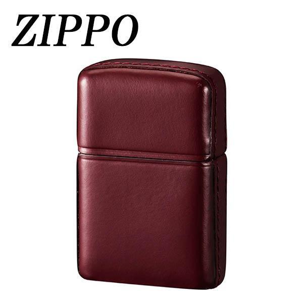 ZIPPO 革巻 松阪牛 ワインレッド 代引き不可/同梱不可