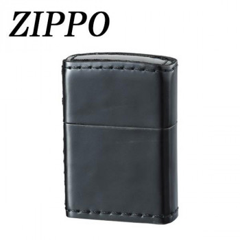 ZIPPO 革巻 コードバン ブラック 代引き不可/同梱不可