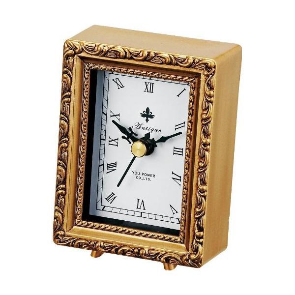 アンティーク調の置時計☆ ユーパワー ANTIQUE 特価 STYLE アンティーク いよいよ人気ブランド スタイル クロック メーカ直送品 スクエア 同梱不可 AC-01803 代引き不可 ゴールド