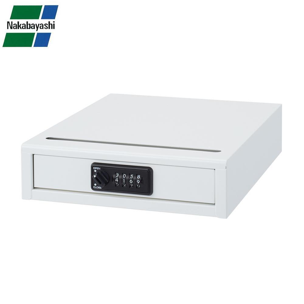 ナカバヤシ セキュリティデスクトップケース ダイヤル錠 A4 AL-DS200シロ メーカ直送品  代引き不可/同梱不可