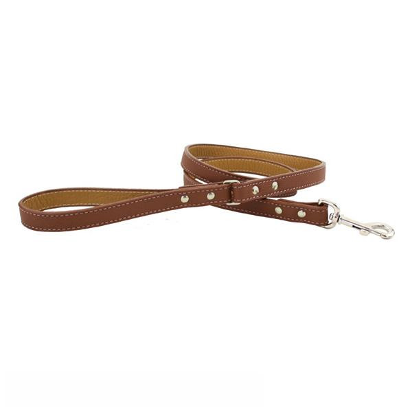 Auburn Leathercrafters トスカーナ本革リード 120cm×2.0cm ブラウン 16310 メーカ直送品  代引き不可/同梱不可