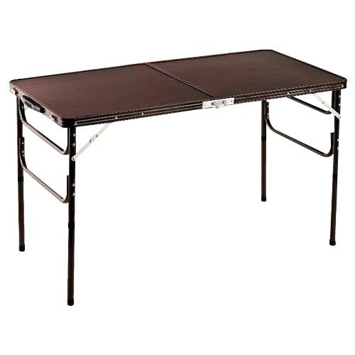 木目調軽量折りたたみアルミテーブル 120cm ZH-347 代引き不可/同梱不可