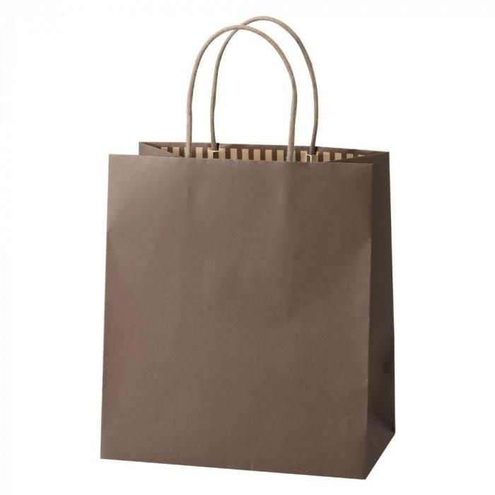 パックタケヤマ 手提袋 ST カラーズ モカ 10枚×10包 XZT68310 メーカ直送品  代引き不可/同梱不可
