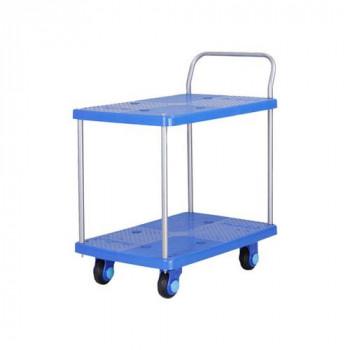 静音台車 テーブル2段式 最大積載量150kg PLA150-T2 メーカ直送品  代引き不可/同梱不可
