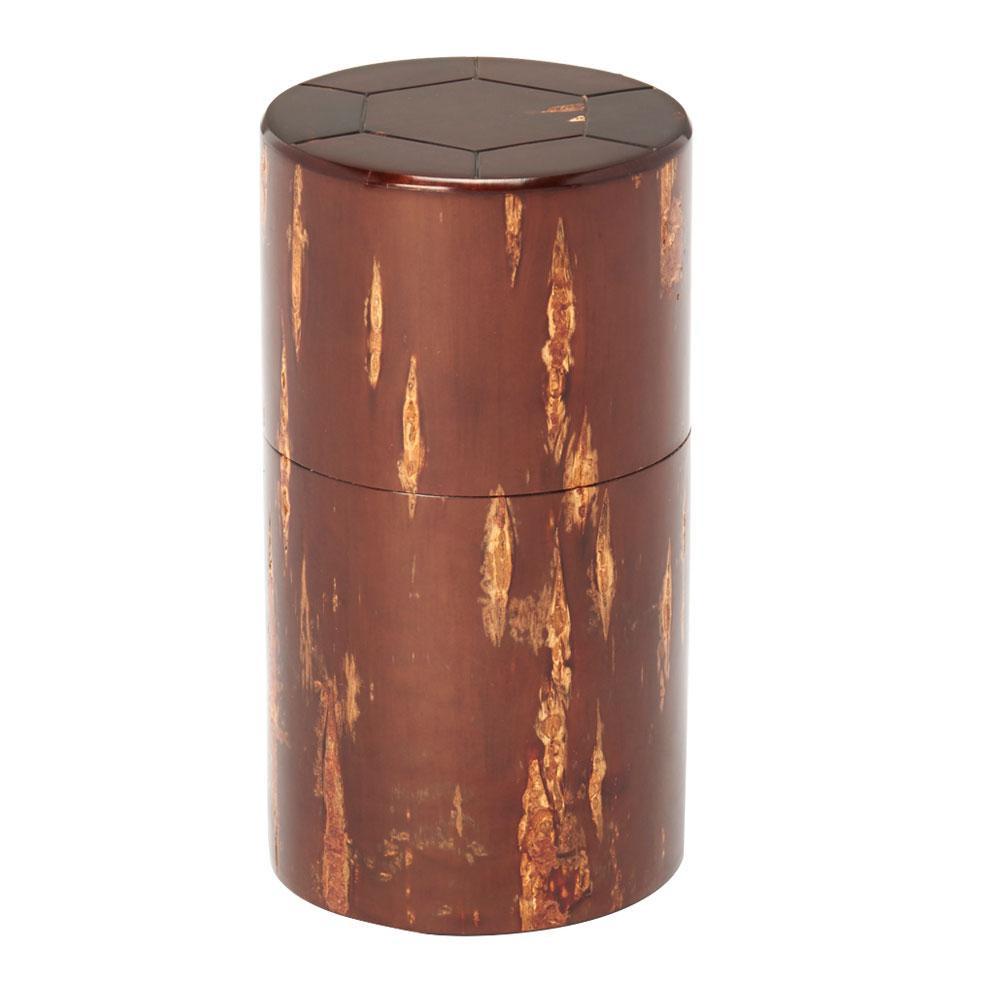 総皮茶筒(細型)天亀甲 30470 メーカ直送品  代引き不可/同梱不可