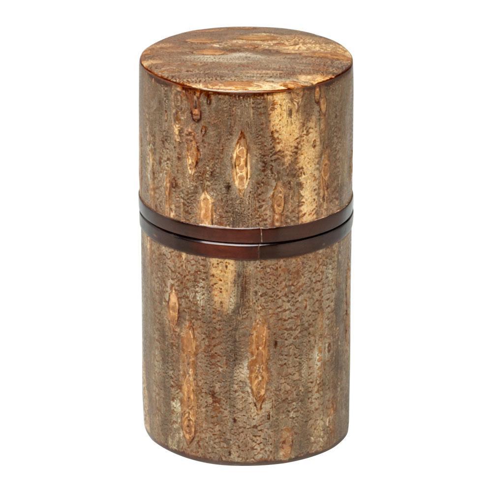 総皮茶筒(細型)帯付 霜降皮 30477 メーカ直送品  代引き不可/同梱不可