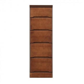 クライン サイズが豊富なすきま収納チェスト ブラウン色 5段 幅32.5cm 代引き不可/同梱不可