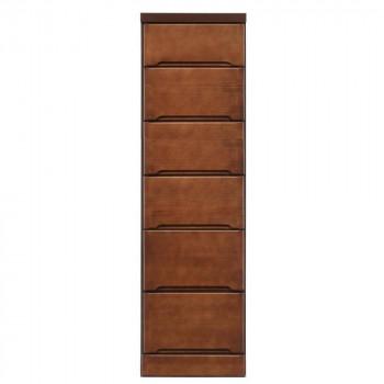 クライン サイズが豊富なすきま収納チェスト ブラウン色 6段 幅35cm 代引き不可/同梱不可