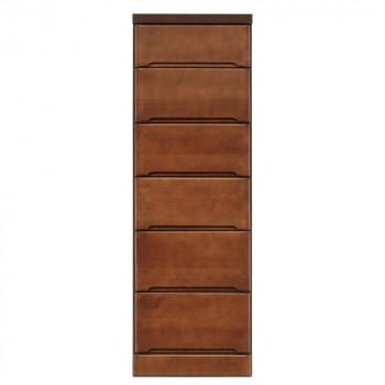 クライン サイズが豊富なすきま収納チェスト ブラウン色 6段 幅40cm 代引き不可/同梱不可
